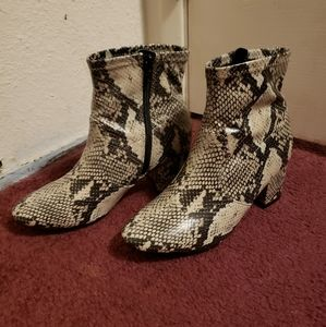 Time and Tru Snakeskin Ankle Boots